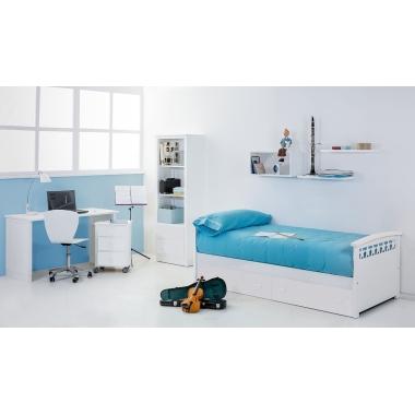 Dormitorio juvenil Nido Estrellas con cajones
