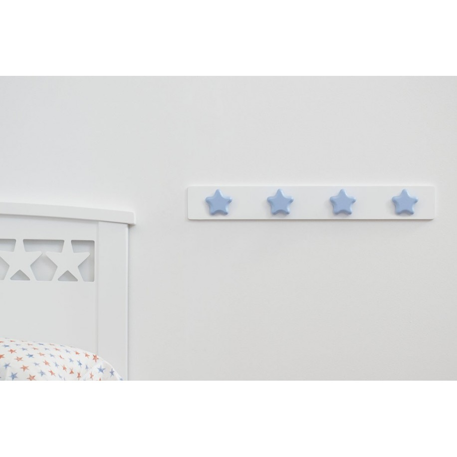 Perchero de pared infantil. Estrella Azúl