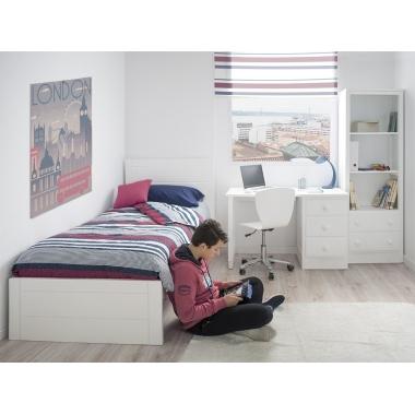Dormitorio juvenil Lineal piecero Bajo