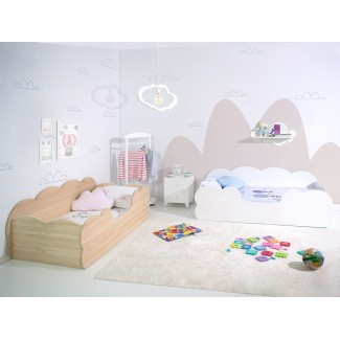 Habitación infantil doble Montessori Nube Blanca y Madera Natural