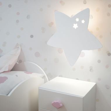 Lampara de pared infantil Star